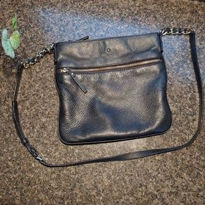 Kate Spade black leather crossbody bag